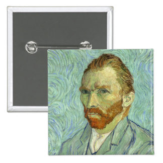 Autoportrait de Vincent van Gogh Badge Carré 5 Cm