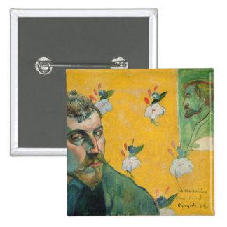 Autoportrait, Les Miserables, 1888 (huile sur la t Pin's Avec Agrafe