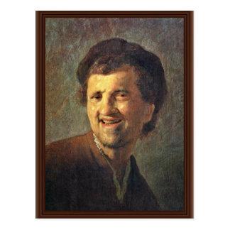 Autoportrait par Rembrandt Harmensz. Van Rijn Cartes Postales