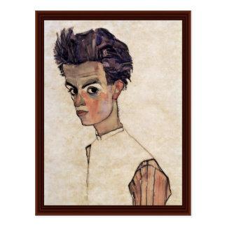 Autoportrait par Schiele Egon Cartes Postales
