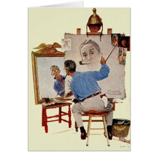 Autoportrait triple cartes