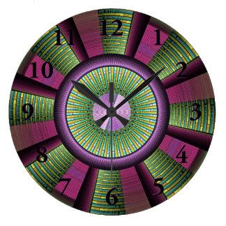 Autour de et art décoratif moderne coloré de grande horloge ronde