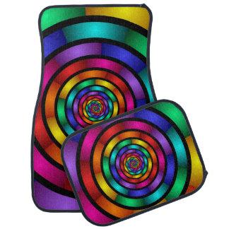 Autour de et art moderne coloré psychédélique de tapis de sol