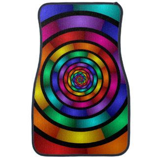 Autour de et art moderne coloré psychédélique de tapis de voiture