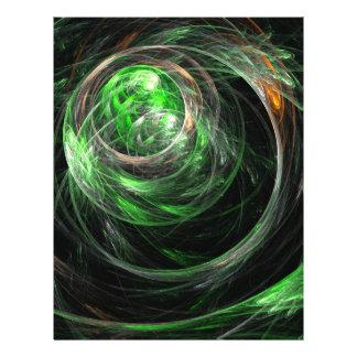 Autour de l'insecte d'art abstrait de vert du mond prospectus 21,6 cm x 24,94 cm