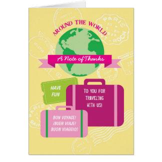 Autour du carte de remerciements du monde