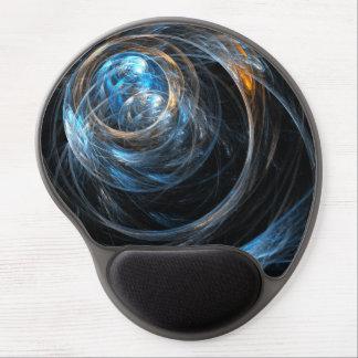 Autour du gel Mousepad d'art abstrait du monde Tapis De Souris Gel