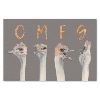 Autruches d'OMFG Papier Mousseline