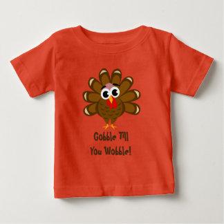 Avalez jusqu'à ce que vous dinde drôle de t-shirt pour bébé