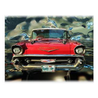 Avant de Chevy 57 de chrome Carte Postale