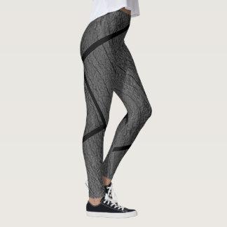 Avant de nature et guêtres grises centrales leggings