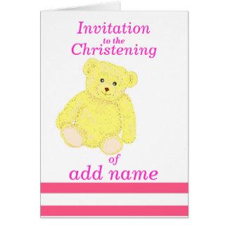 Avant de nom de fille de carte d invitation de bap