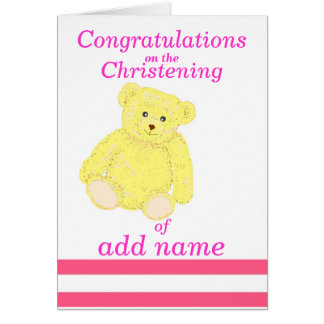 Avant de nom de fille de carte de félicitations de