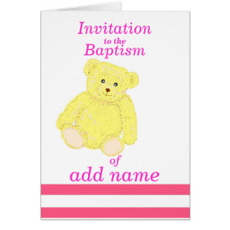 Avant de nom de fille de carte d'invitation de bap