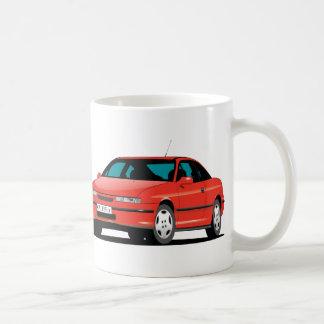 Avant d'Opel Calibra et arrière rouges Mug