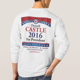 Avant du château 2016 et dos - longue pièce en t t-shirt
