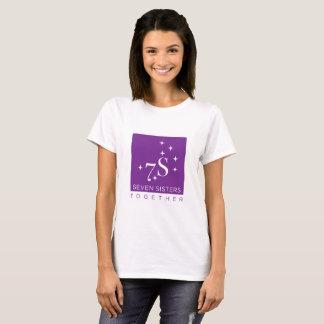 Avant du logo de sept de soeurs femmes ensemble t-shirt