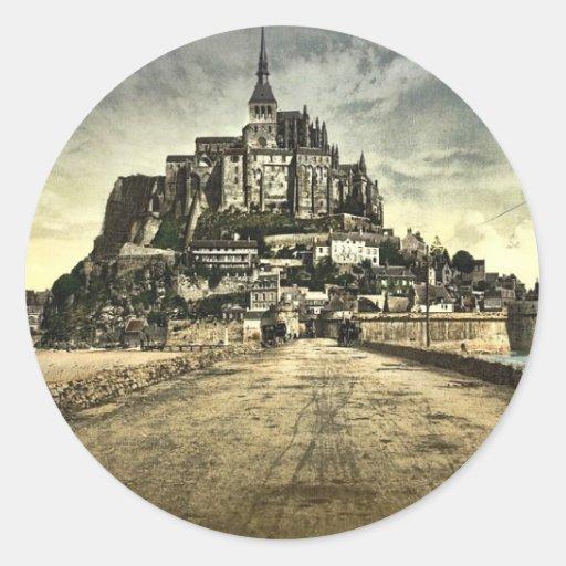 Avant du sud de la digue, St Michel, France de Adhésif Rond