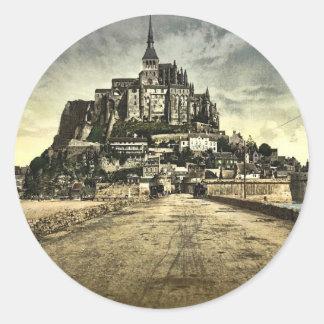 Avant du sud de la digue, St Michel, France de Sticker Rond