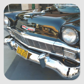 Avant d'un hot rod 1956 classique de Bel Air de Sticker Carré