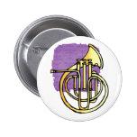 Avant en forme de corne français d'instrument fais pin's