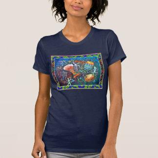 AVANT et DOS de T-shirt de TAMBOURS
