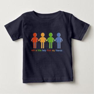 Avec A peu d'aide de mes amis T-shirt Pour Bébé