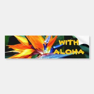 Avec Aloha ! Autocollant De Voiture