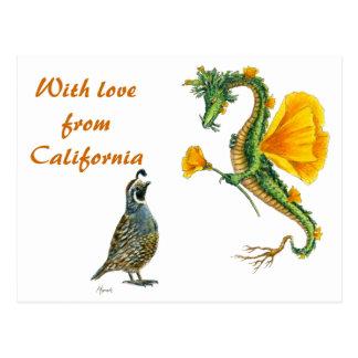 Avec amour de la Californie - carte postale