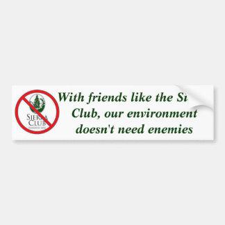 Avec des amis aimez la sierra club autocollant de voiture