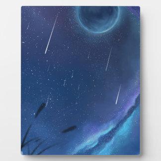 Avec la bénédiction des étoiles plaque photo
