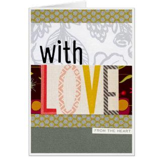 Avec la carte d'amour