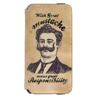 Avec la grande moustache, vient la grande coque-portefeuille iPhone 6 incipio watson™