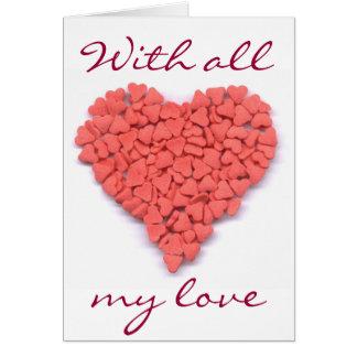Avec toute ma carte d'amoureux d'amour