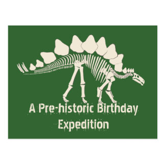 Aventure d'anniversaire de fouille de dinosaure carte postale