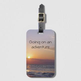 Aventure de lever de soleil étiquettes bagages