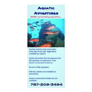 Aventures aquatiques, carte de support