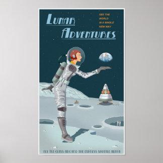 Aventures lunaires poster