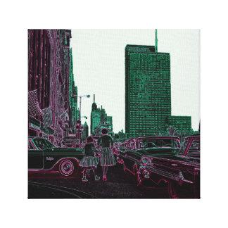 Avenue de achat Chicago 1961 du Michigan de fille Toile