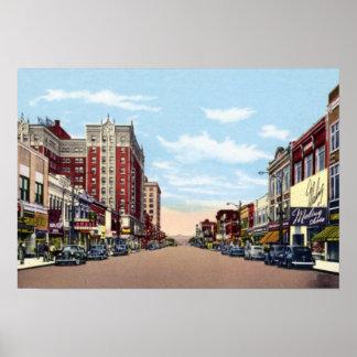Avenue de Gary Indiana Broadway Affiche