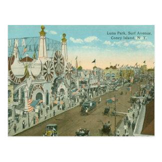 Avenue de surf de Luna Park Cartes Postales