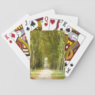 Avenue des cartes de jeu classiques d'arbres jeu de cartes