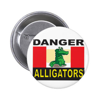 avertissement d'alligator de danger badge