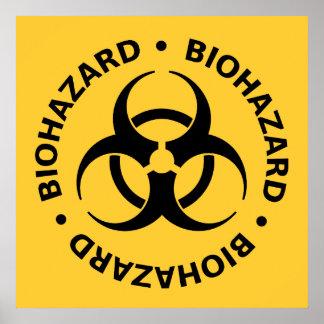 Avertissement de Biohazard Affiches