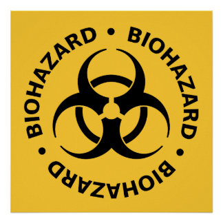 Avertissement de Biohazard Poster