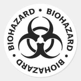 Avertissement de Biohazard Sticker Rond