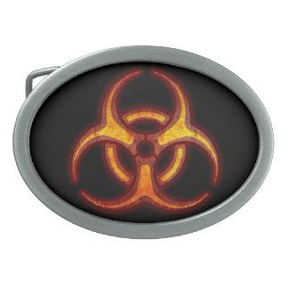 Avertissement de zombi de Biohazard Boucle De Ceinture Ovale