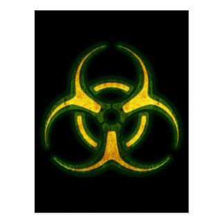 Avertissement de zombi de Biohazard Carte Postale