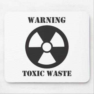 Avertissement - déchets toxiques tapis de souris
