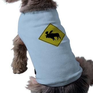 Avertissement d'orignaux, panneau routier, Canada T-shirt Pour Chien